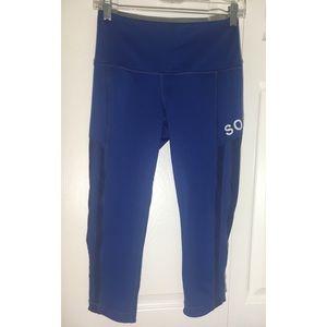 SOUL CYCLE ATHLETIC CROP PANTS BLUE M